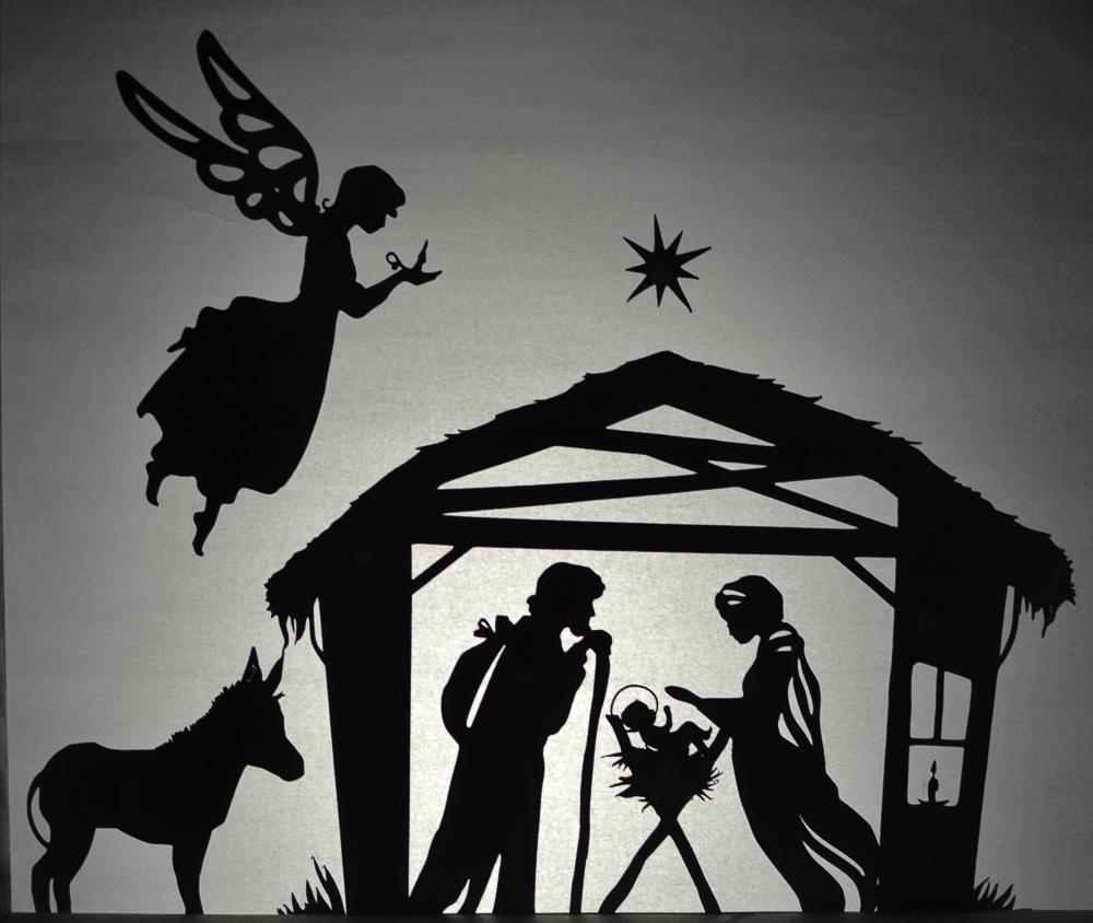 Nativity Scene Shadow Puppet Set