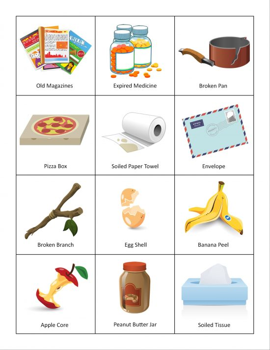 printable recycling sorting game adventure in a box. Black Bedroom Furniture Sets. Home Design Ideas