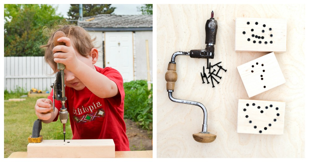 Woodscrew Art: Introducing Kids to Screwdriving Tools