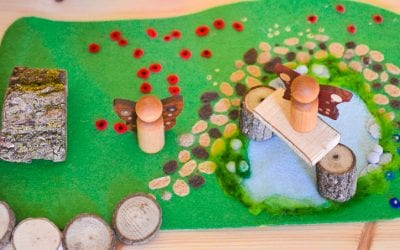 Woodland Meadow: DIY No-Sew Felt Play Mat