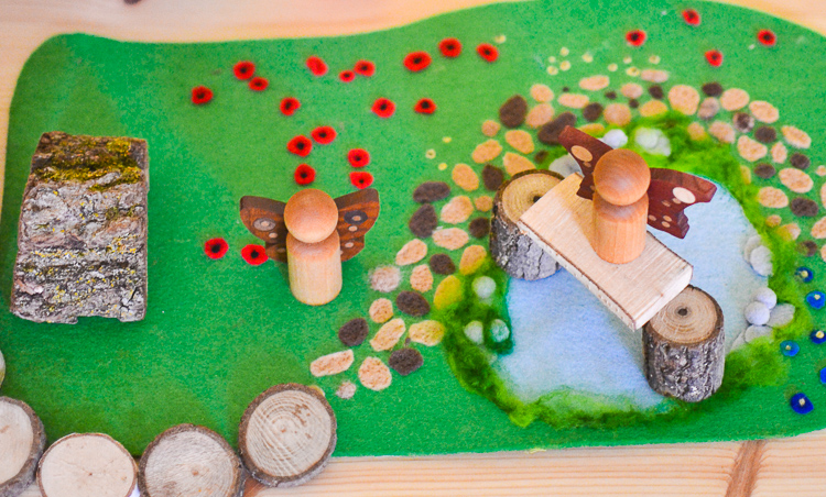 Woodland Meadow: DIY No-Sew Felt Play Mat