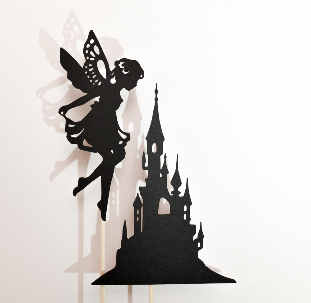 make a fairy tale shadow puppet set