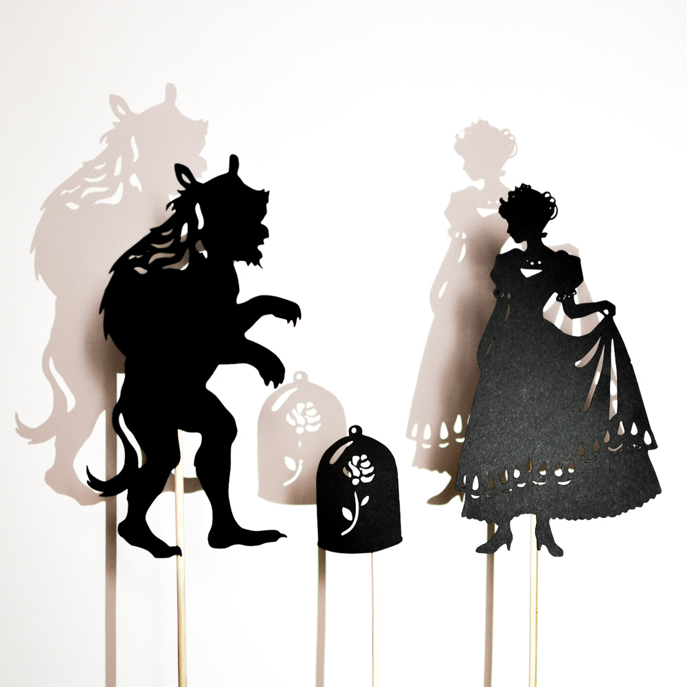 how to draw shadow puppets