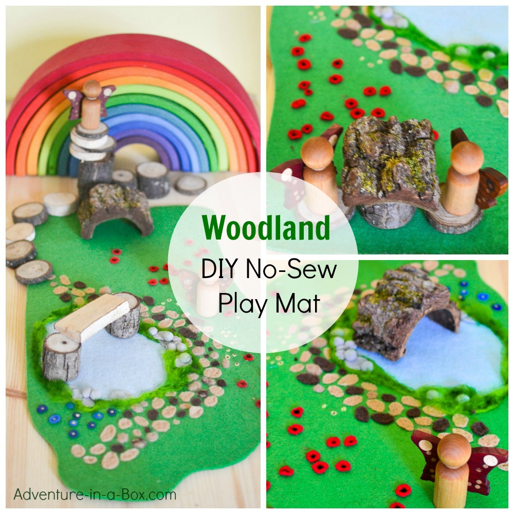 Woodland Meadow: DIY No-Sew Felt Play Mat | Adventure in a Box