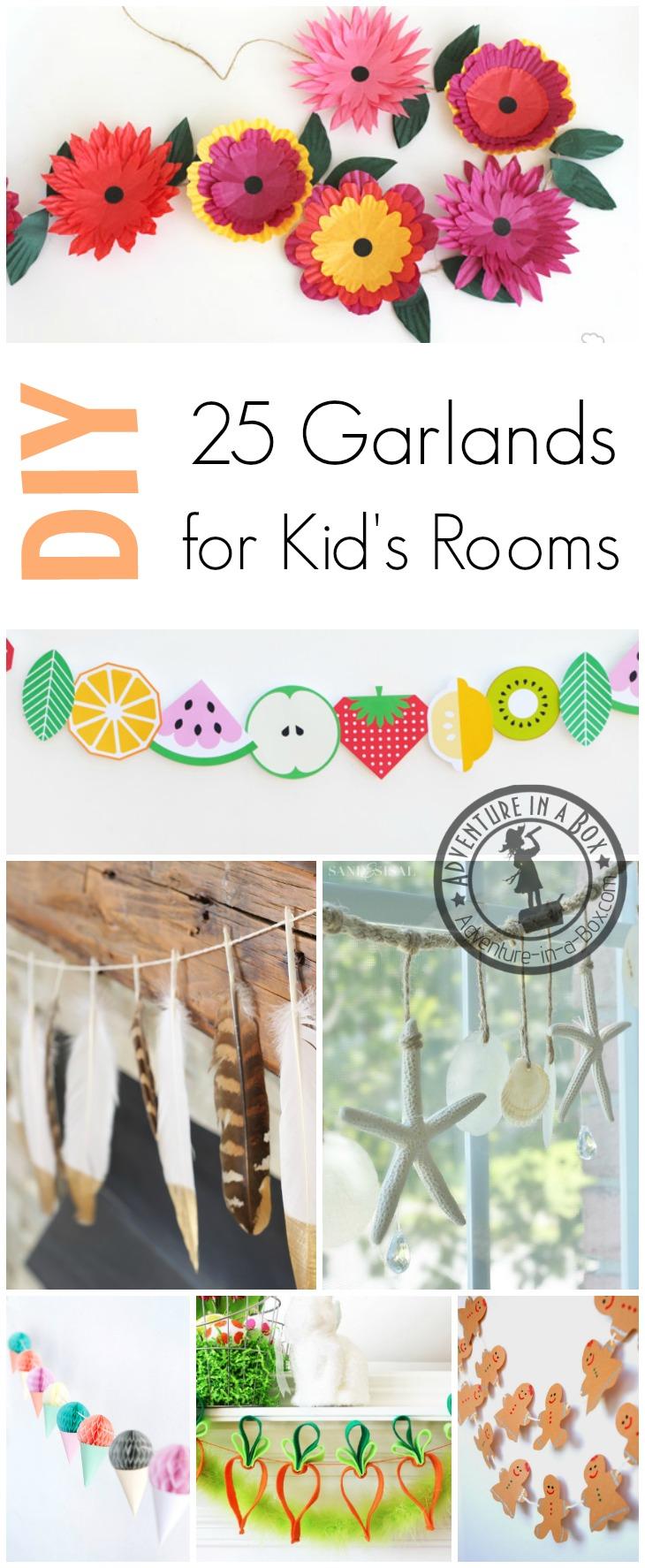 Diy Seasonal Garlands For Kids Rooms Adventure In A Box