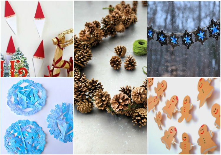 DIY Winter Garlands to Decorate Kid's Rooms