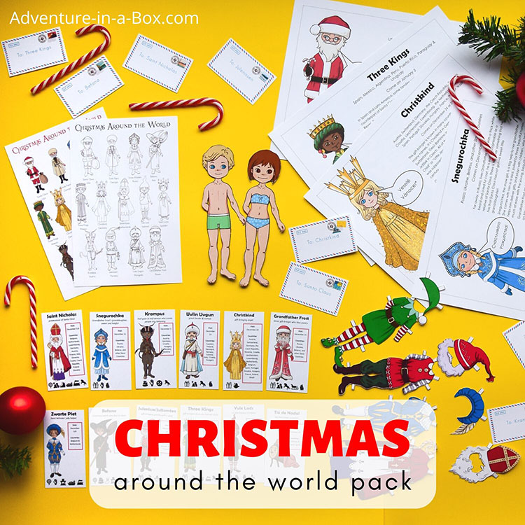 Christmas Around the World for Kids: a pack of festive & educational activities