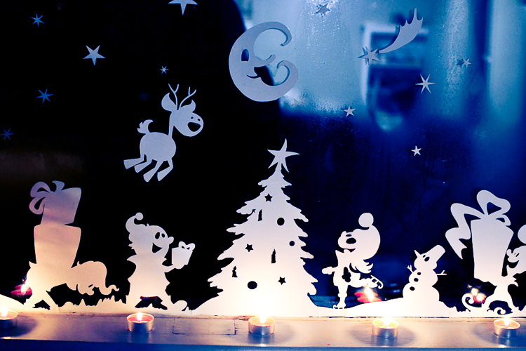 printable christmas window decorations cut print and decorate your windows with silhouettes of a