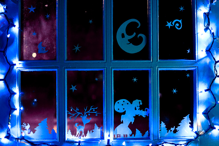 Christmas door window decorations