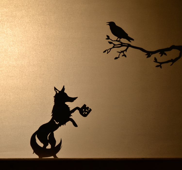 The Fox And The Crane 4 Shadow Puppets