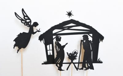 Nativity Shadow Puppet Set for Christmas