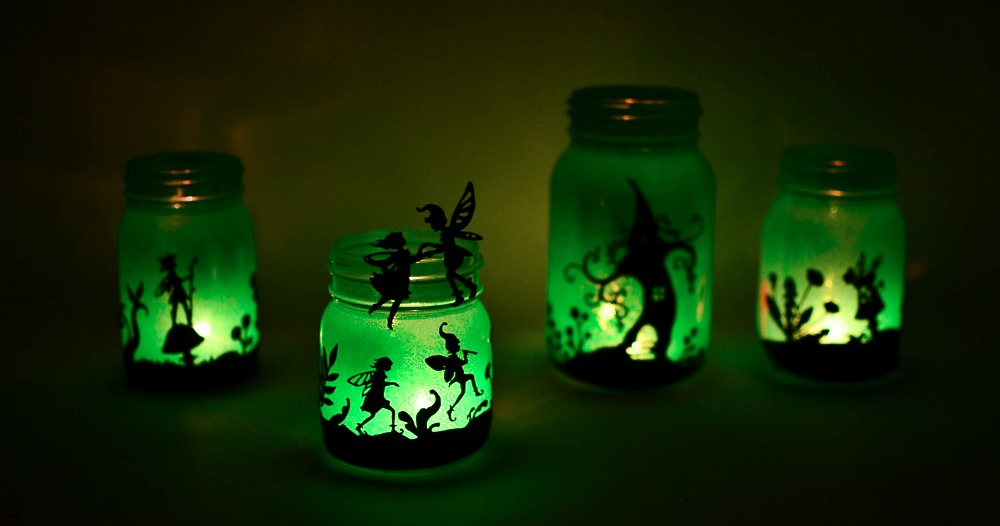 Fairy Lanterns from Mason Jars