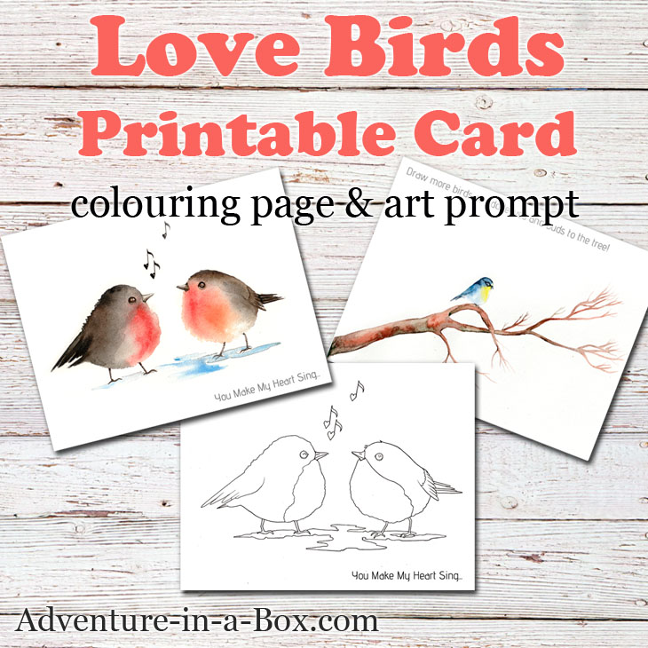image about Printable Bird identified as Birds: Free of charge Printable Card, Colouring Web page Drawing Advised