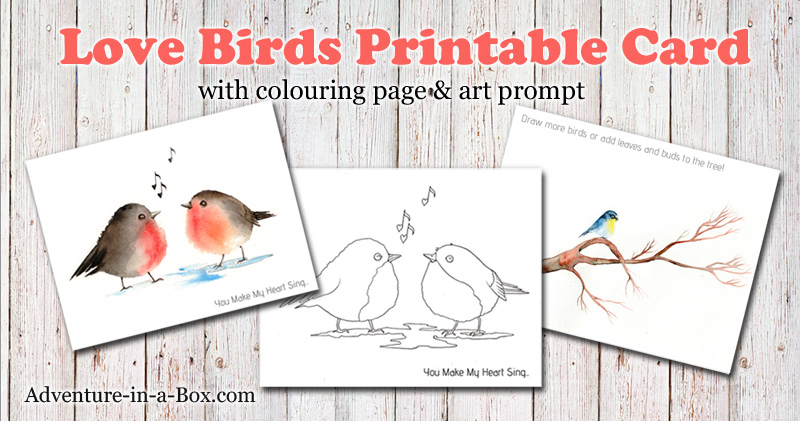 photograph about Bird Printable named Birds: Totally free Printable Card, Colouring Web site Drawing Advised