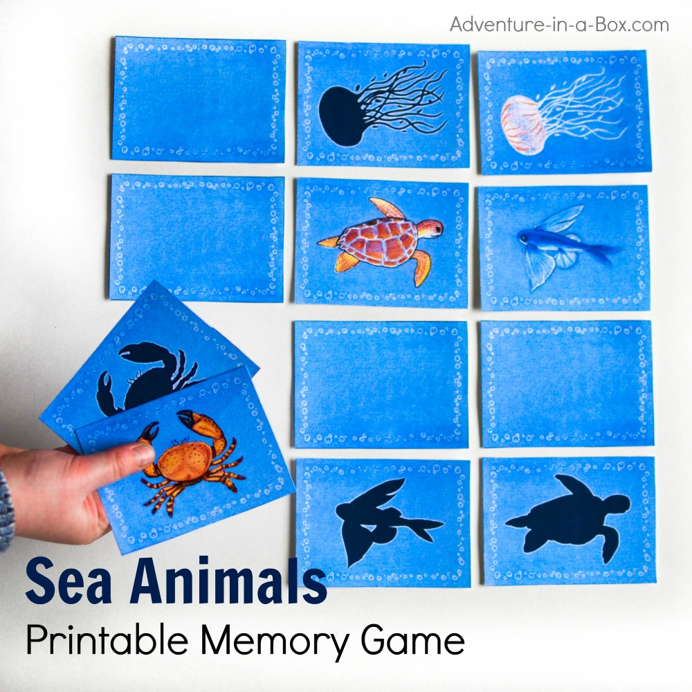 picture regarding Animal Matching Game Printable known as Sea Animal Printable Memory Sport