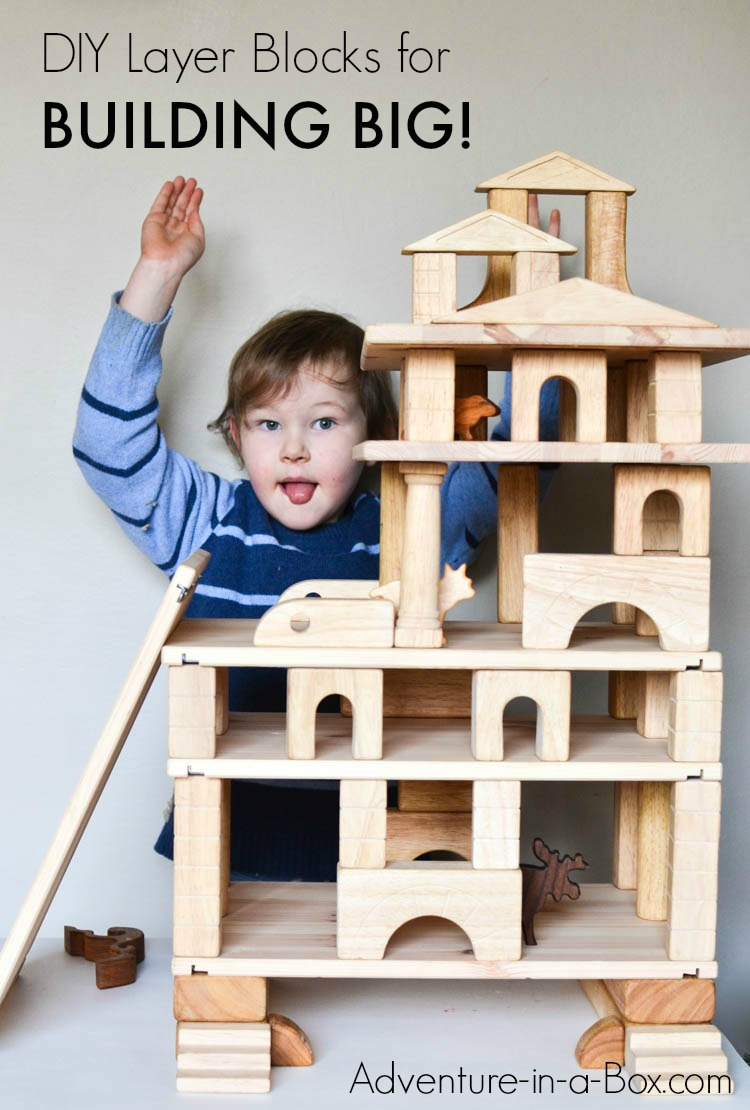 build doll houses  garages and towers with wooden blocks