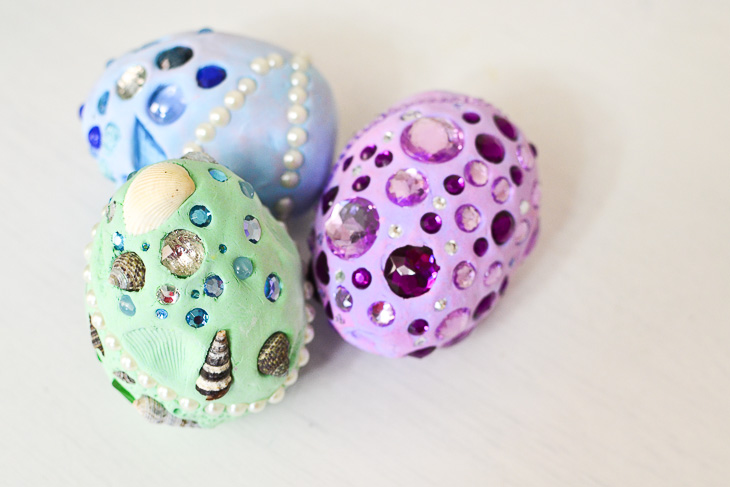 How to make dragon eggs from air-dry clay. Finished eggs,