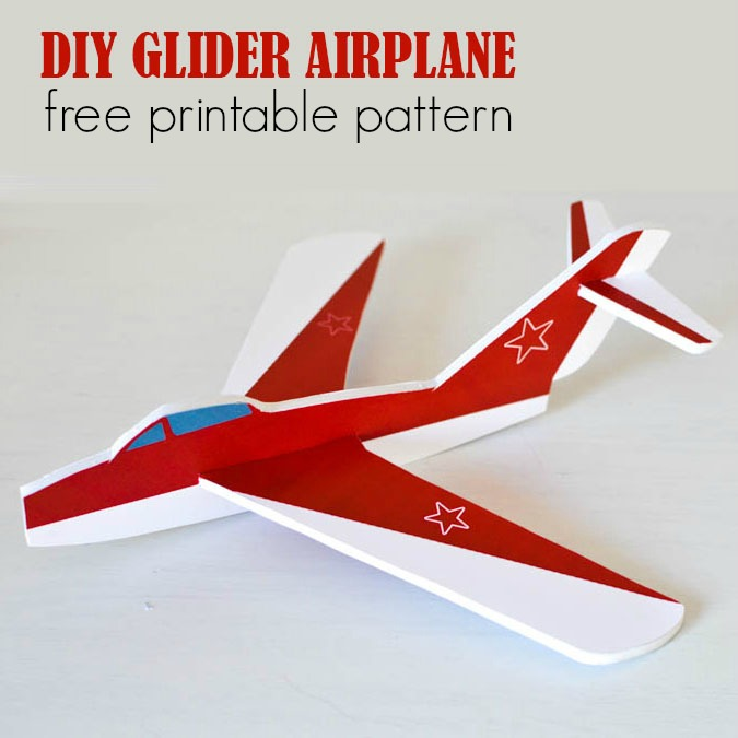 photograph about Airplane Printable identified as Cost-free Printable Foam Glider Plane Routine Journey inside a Box