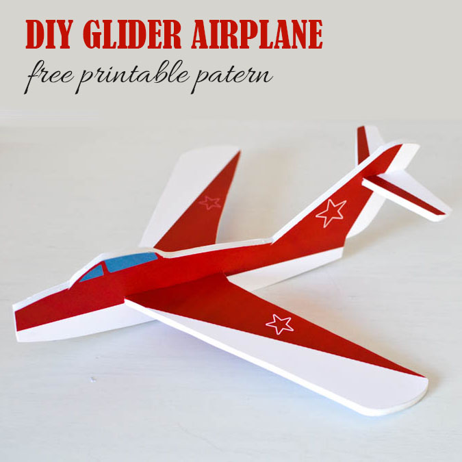 how to make a glider at home