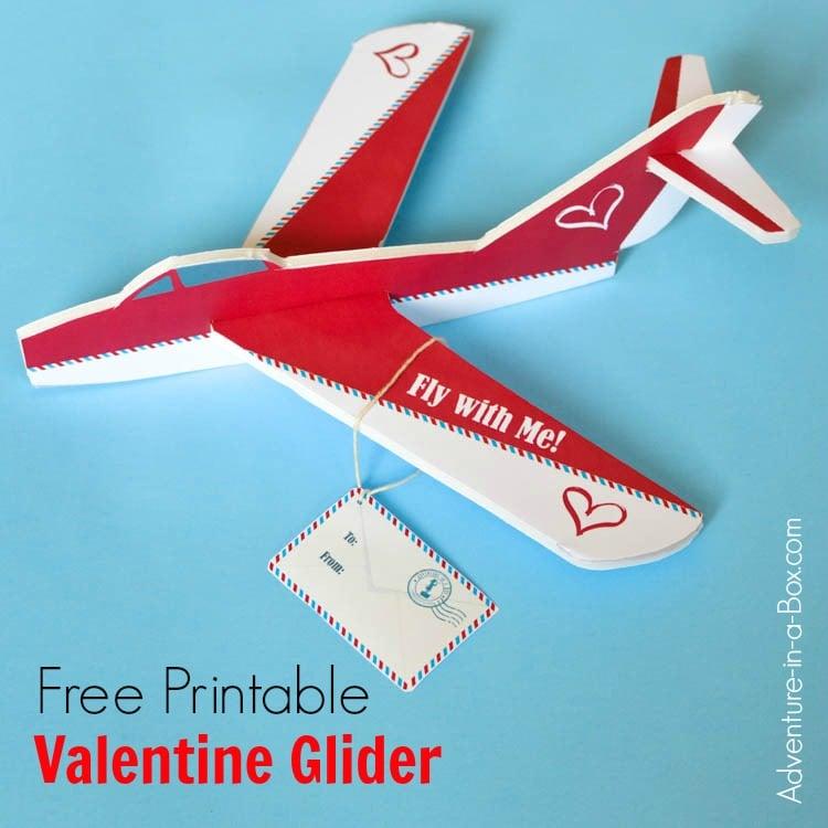 Free Printable Valentine Foam Glider Airplane Pattern