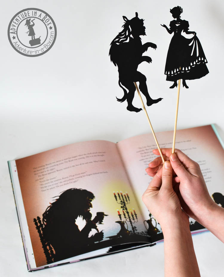 Beauty And The Beast Shadow Puppets Adventure In A Box