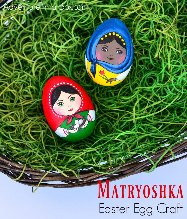 If you want new egg decorating ideas for Easter, this craft tutorial will show you how to turn the wooden eggs into a couple of multicultural Matryoshka dolls!