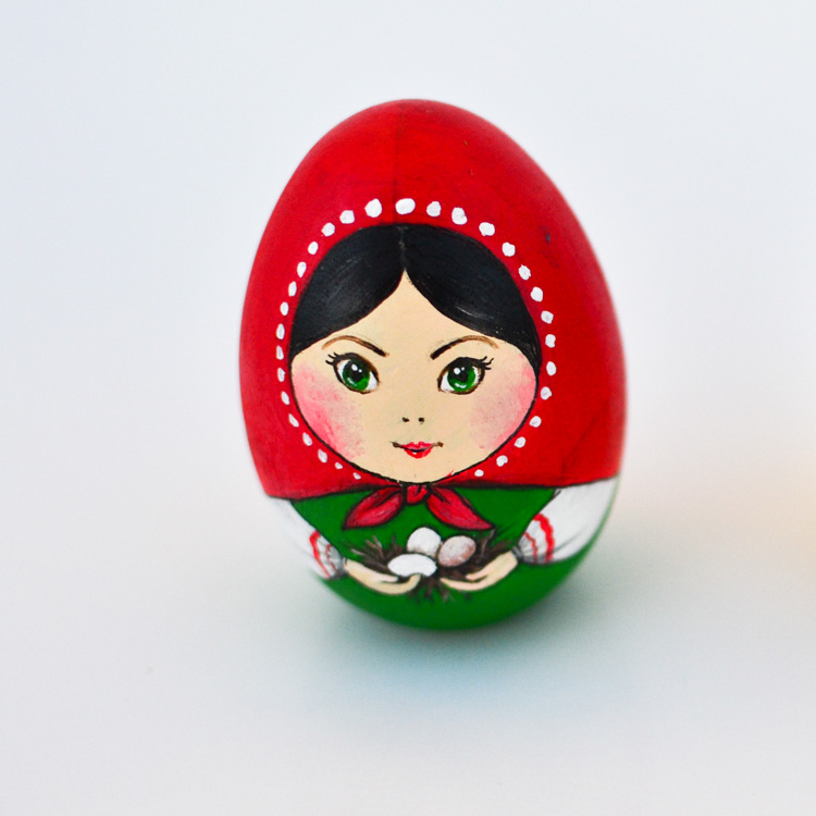 If you like decorating eggs for Easter, this craft tutorial will show you how to turn them into a couple of multicultural Matryoshka dolls!