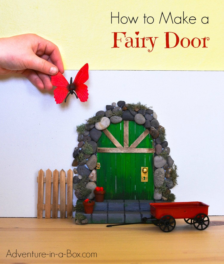 Diy project how to make a toy tree house for Make fairy door craft