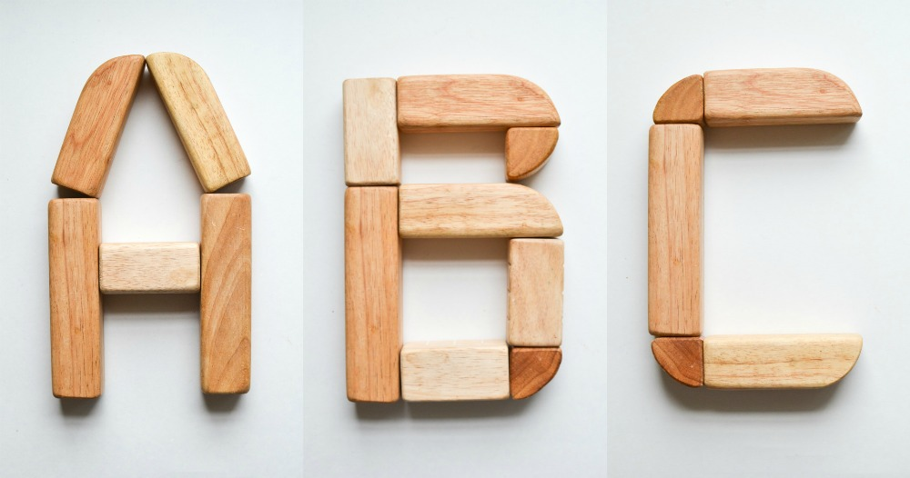 Wooden Block Alphabet Free Printable Cards