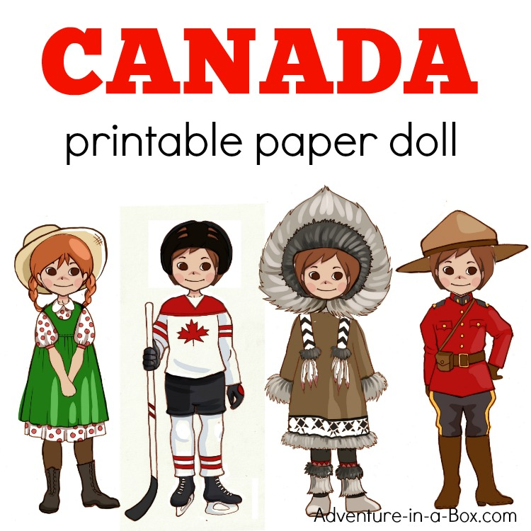 photo relating to Paper Dolls to Printable called Canadian Costume-Up Paper Doll: Printable Template with Colouring Webpages