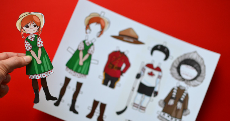 Canadian Dress-Up Paper Doll with a Printable Template