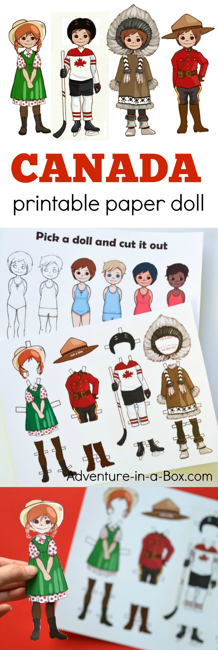 Canadian Dress Up Paper Doll With A Printable Template
