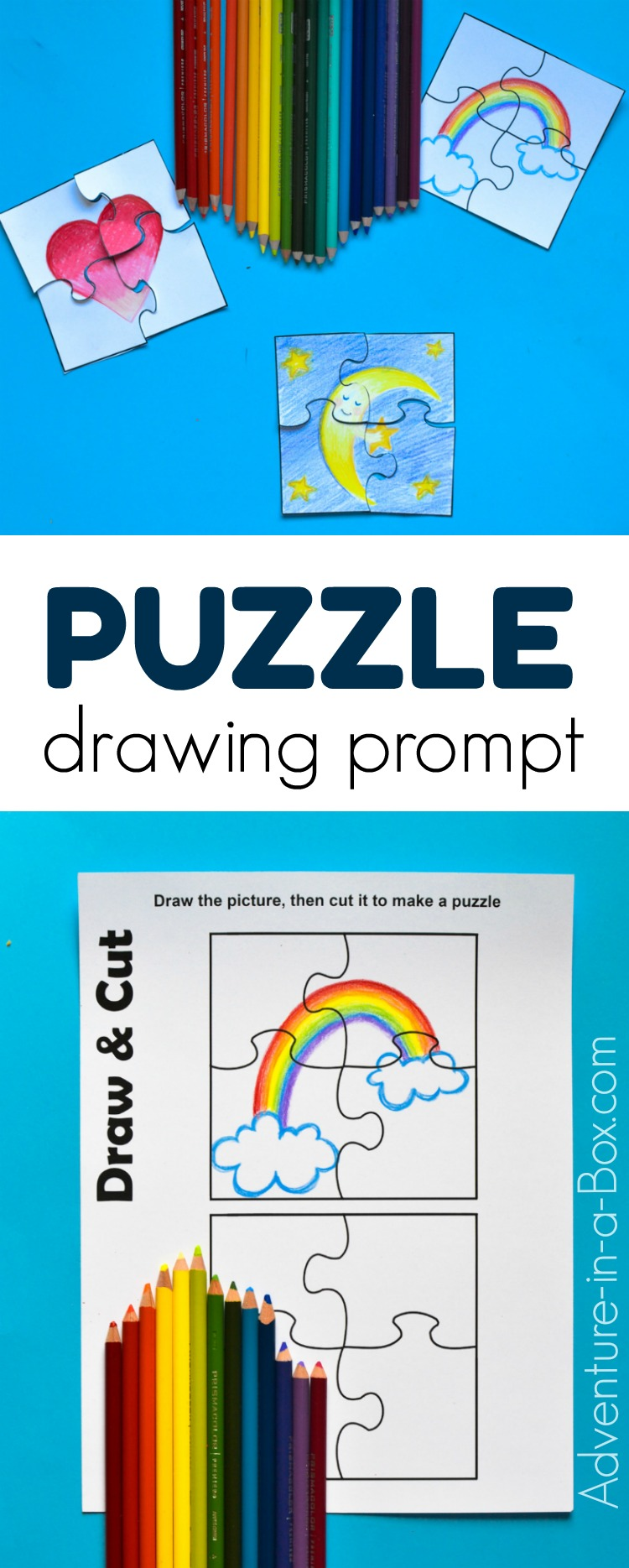 photograph regarding Make a Puzzle From a Picture Printable identified as Puzzle Drawing Advised for Young children with a Absolutely free Printable
