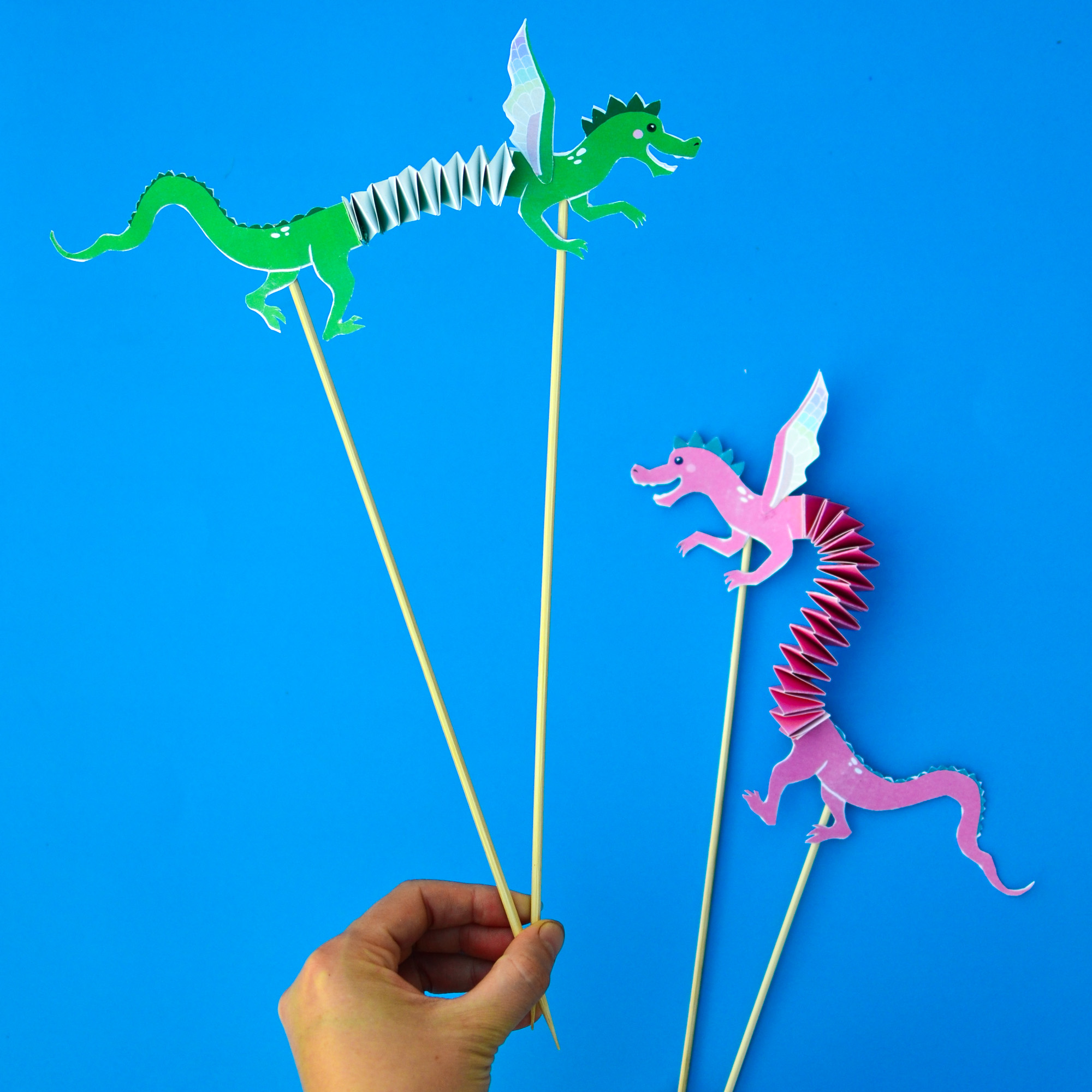 Articulated Dragon Puppets