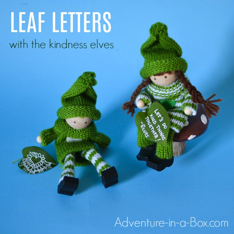 A fun and simple way for kids to make art and practice writing with nature in the summer! Don't these leaf messages look as if they were left by fairies?