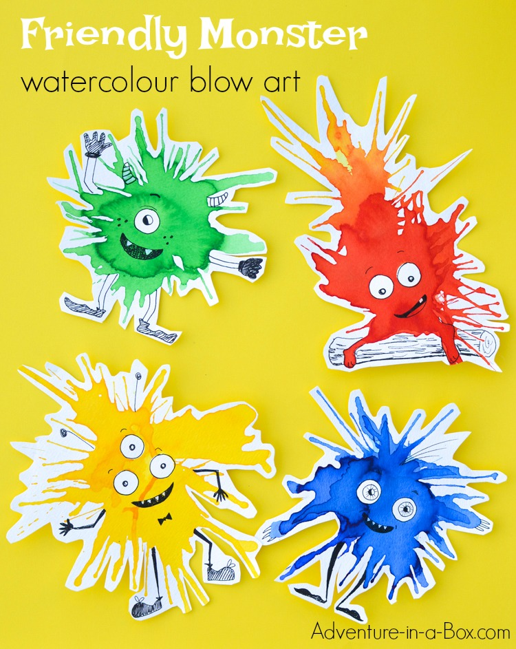 If you like process art and trying new painting techniques with kids, keep this watercolour monster craft in mind for the next rainy afternoon. They are guaranteed to brighten your day!