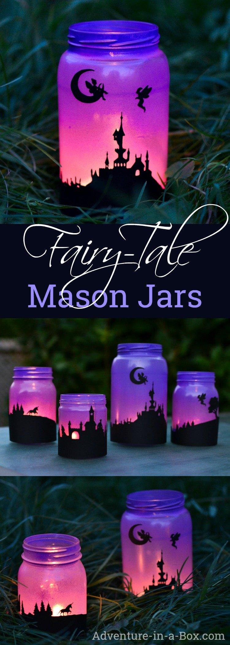 how to make fairy tale mason jar lanterns pin