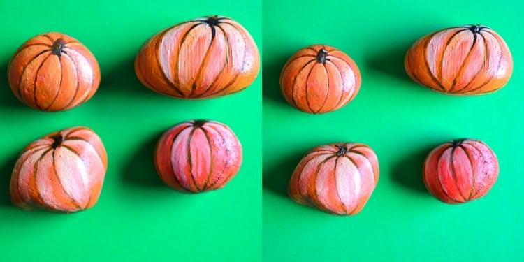 Painted JackoLantern Pumpkin Rocks Adventure In A Box - How to paint a pumpkin