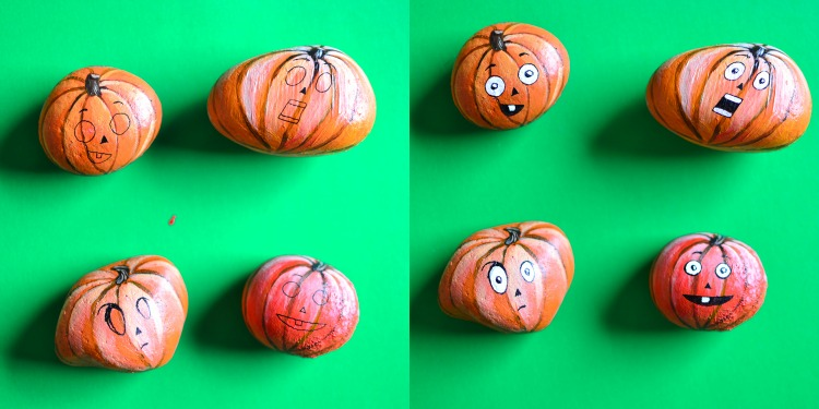 5 Use Ink Pens Or A Very Thin Brush With Black Acrylic Paint To Outline The Features You Can Make Them Look Like Traditional Carved Pumpkins I