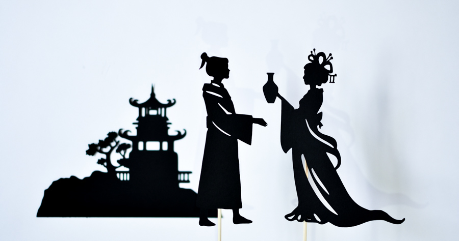 Moon Chinese Legend Shadow Puppet Show for the Mid-Autumn Festival