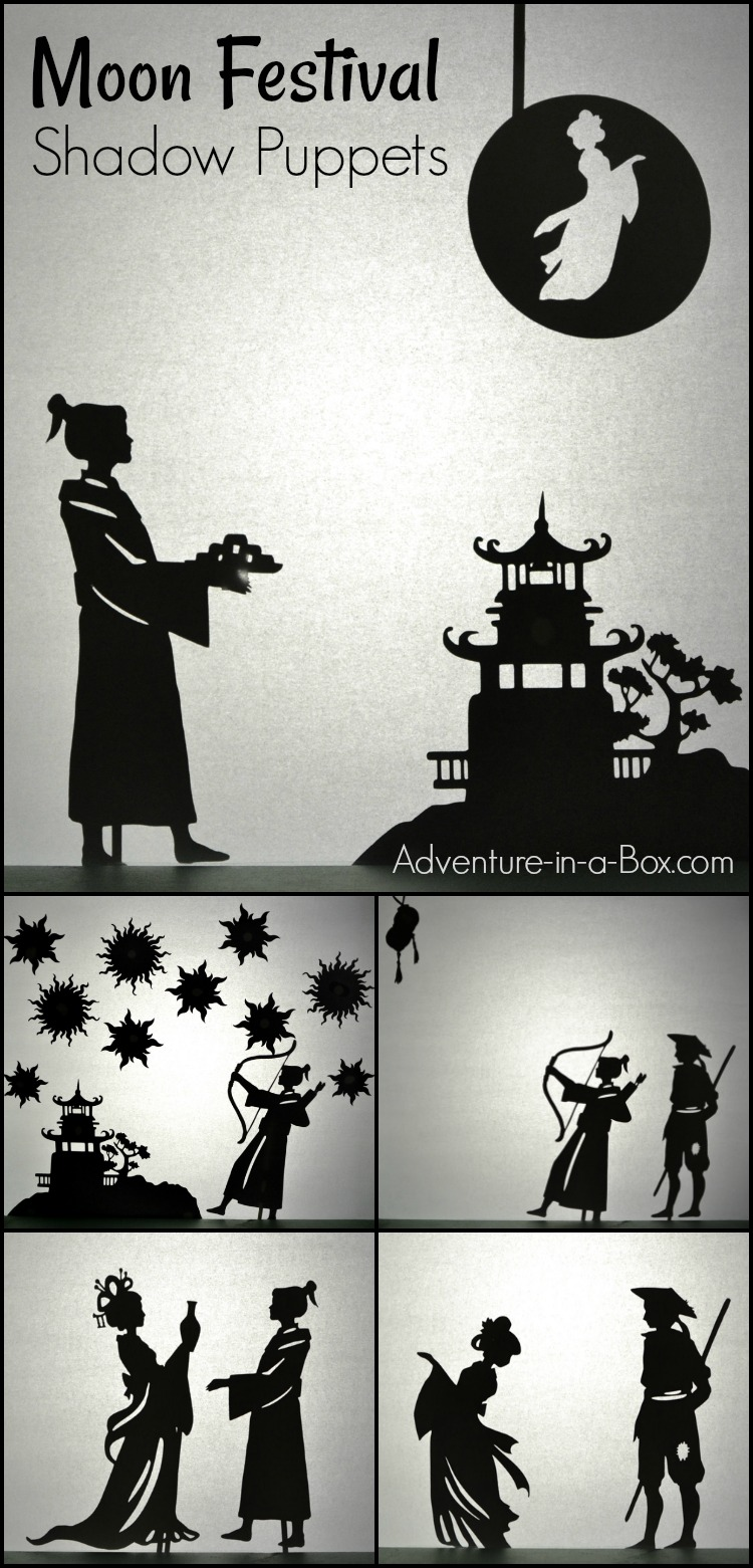 Celebrate the Mid-Autumn Moon Festival by staging a shadow puppet show based on the Chinese Moon legend that explains the origin and tradition of the festival.