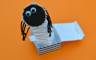 Spider Jack-in-the-Box: Free Printable Toy