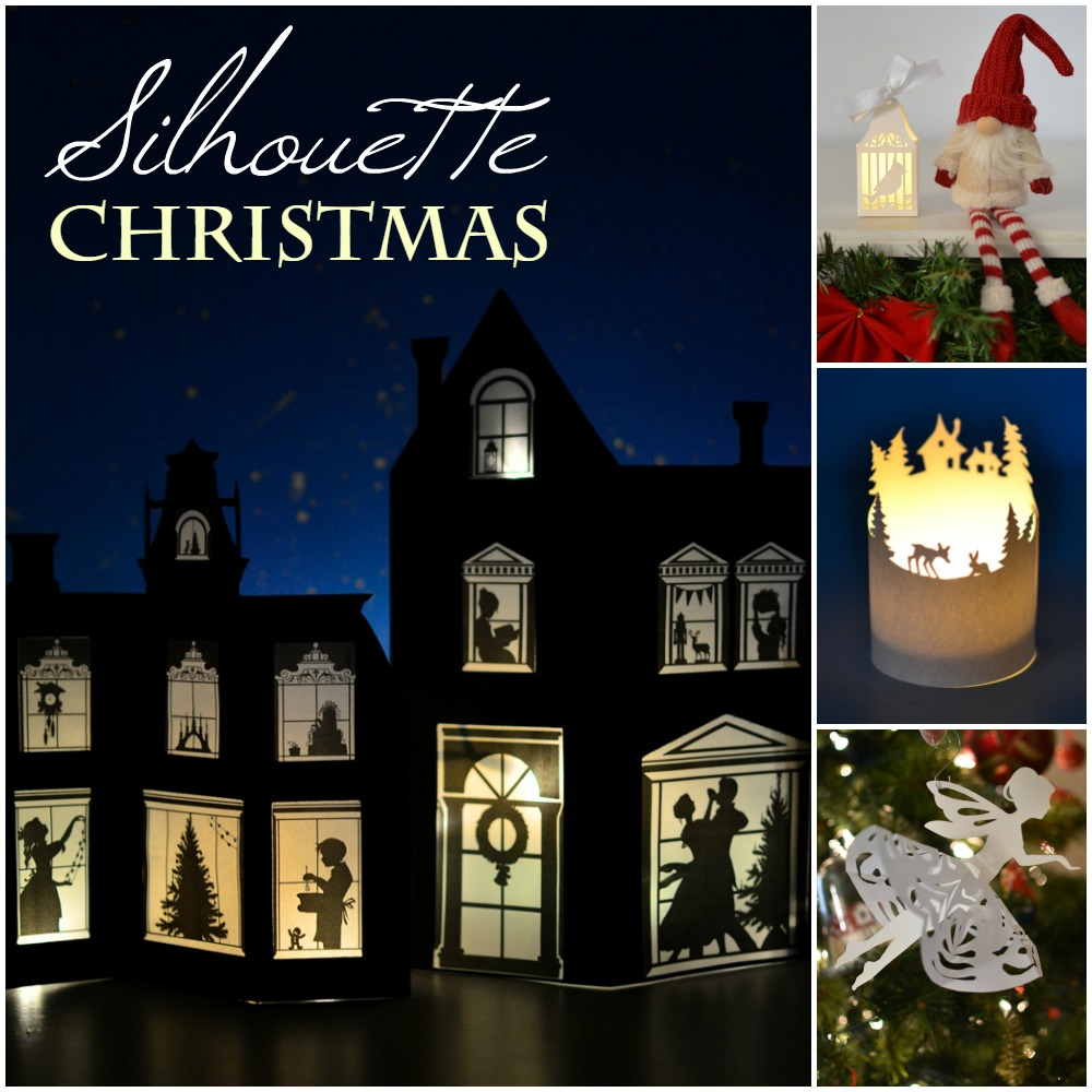 graphic about Printable Silhouette Templates identify Silhouette Xmas Craft Ebook: more than 60 Printable Templates!