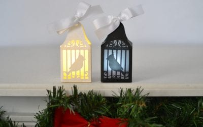 Bird Cage Paper Lantern Ornament