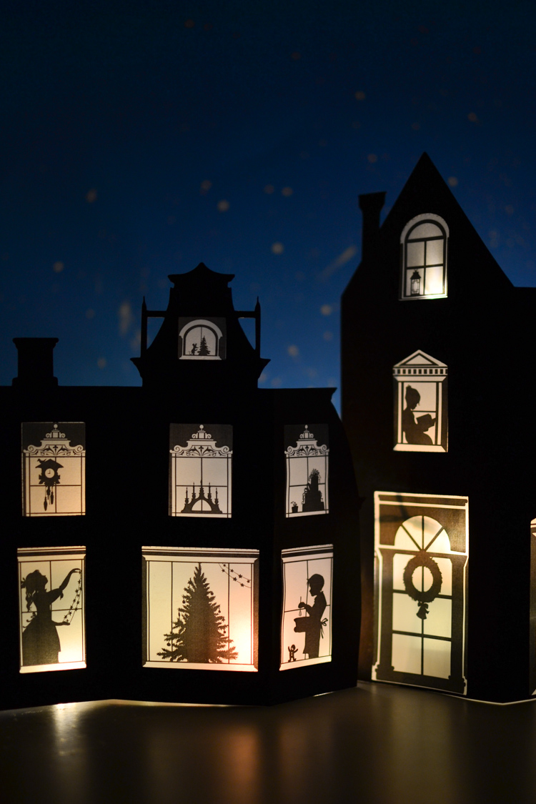 Transformative image intended for printable christmas village template