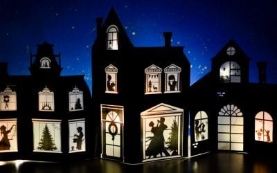 Silhouette Christmas Village with Printable Designs