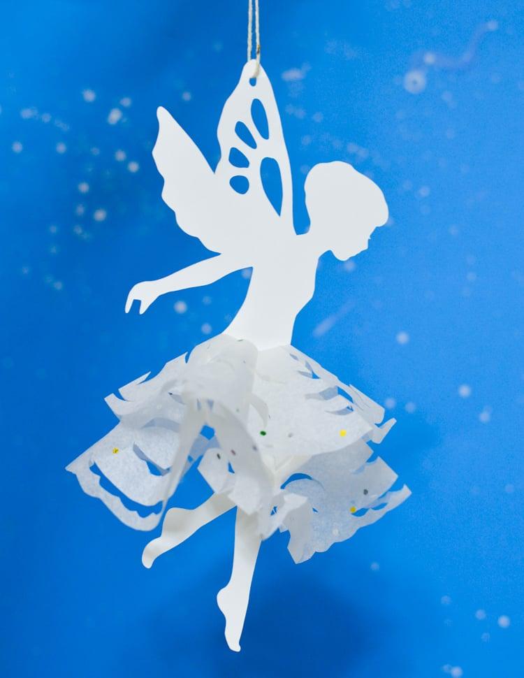 Paper snowflake fairy design