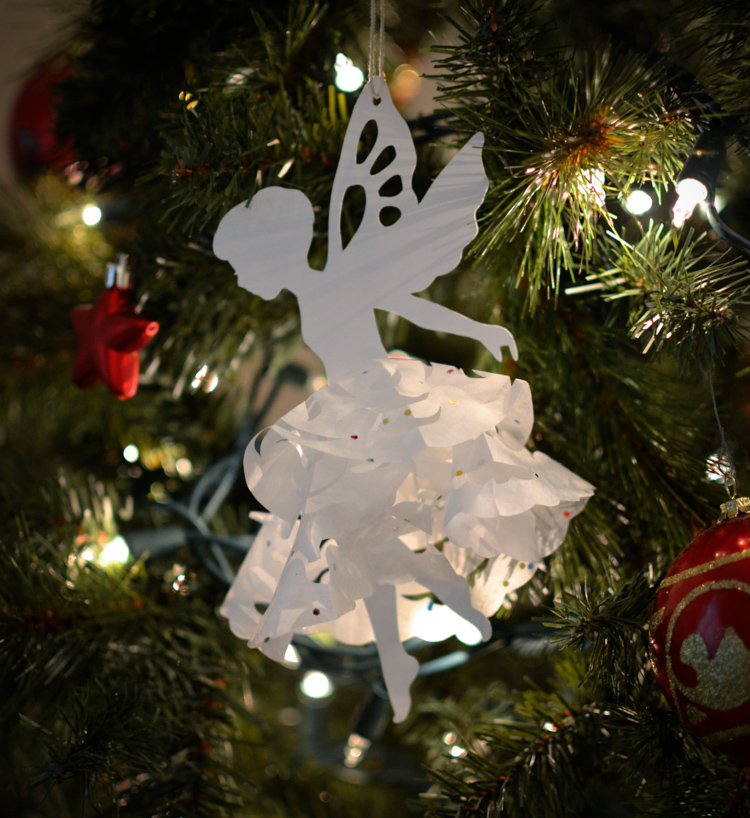 Snowflake fairy ornament