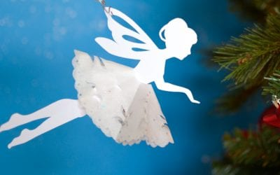 Snowflake Paper Fairies with a Printable Template
