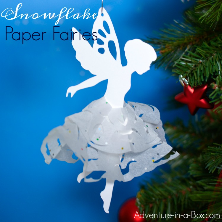If you like cutting snowflakes out of paper, make a paper snowflake fairy with our free printable template! A great winter craft for kids that can be used as a Christmas tree ornament.